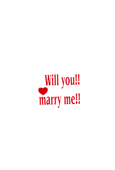 Will you!! marry me