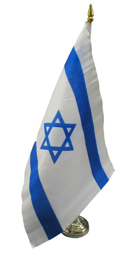 AN ISRAEL DESK FLAG